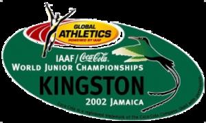 2002 World Junior Championships in Athletics - Image: Kingston 2002logo