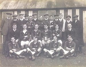 Kiveton Park F.C. - The Kiveton Park team which won the 1914 Portland Challenge Cup