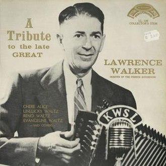 Lawrence Walker - Lawrence Walker's tribute CD cover