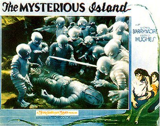 The Mysterious Island - Lobby Card for the 1929 film version of The Mysterious Island, filmed in Technicolor