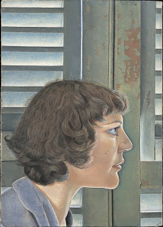 Lucian Freud - Portrait of Kitty, 1948–49, an early portrait of his wife Kitty Garman