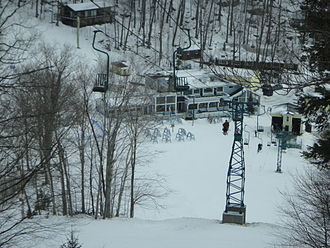 Mad River Glen - Single chair seen from above