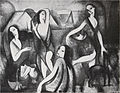 "Marie Laurencin, 1910-11, Jeunes filles, oil on canvas, 115 x 146 cm, published in Du ""Cubisme"", 1912.jpg"