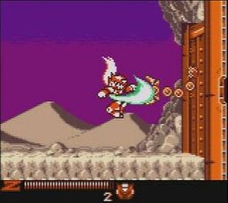 Mega Man Xtreme 2 - The player character Zero attacks an enemy in the opening stage.