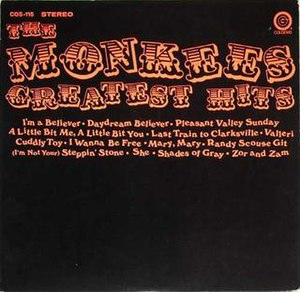 The Monkees Greatest Hits (Colgems) - Image: Monkees Greatest Colgems