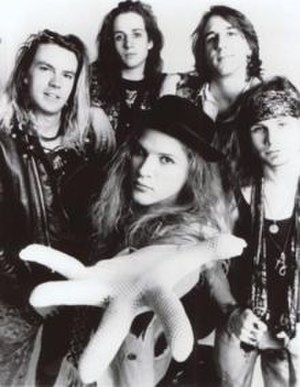 Andrew Wood (singer) - Andrew Wood (front) with Mother Love Bone in 1989