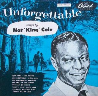Unforgettable (Nat King Cole album) - Image: Nat King Cole Unforgettable Capitol 12inch