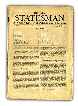 New Statesman - The first issue of the New Statesman, 12 April 1913