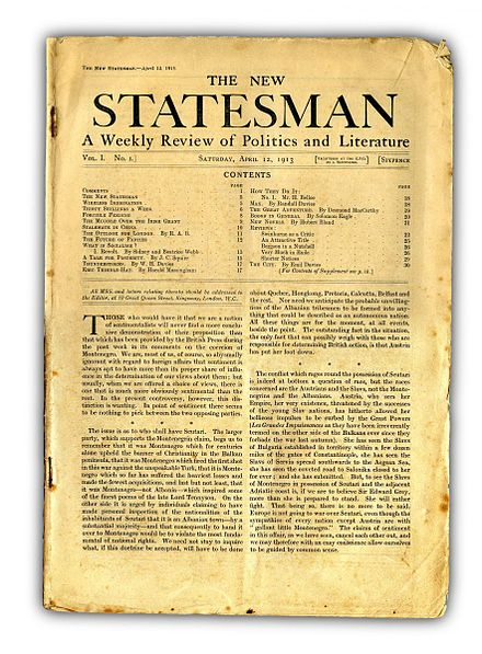 The first issue of the New Statesman, 12 April 1913 New-Statesman-First-Issue-12-April-1913.jpg