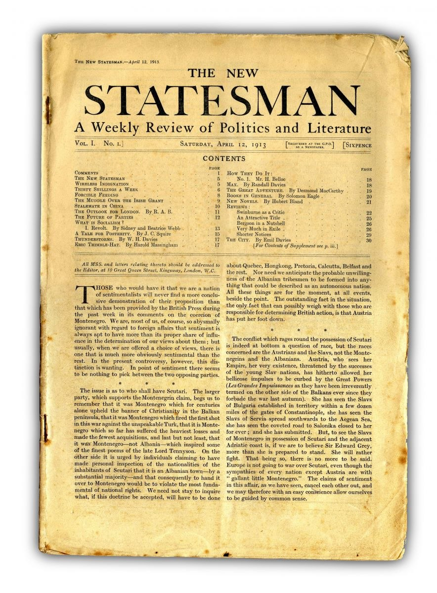 New-Statesman-First-Issue-12-April-1913