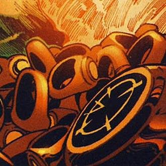 Larfleeze - Some of Larfleeze's Orange Power Rings.