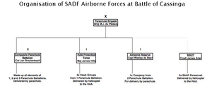 Battle of Cassinga - Airborne forces committed to the battle