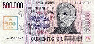 Argentine austral - Image: P Austral 500000 A