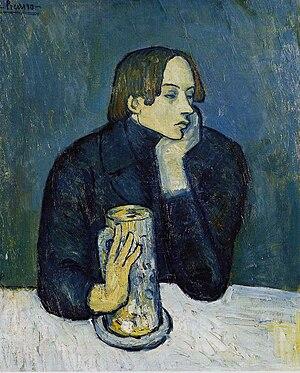 Jaime Sabartés - Pablo Picasso, 1902, Le bock (Portrait de Jaime Sabartés), oil on canvas, 82 x 66 cm