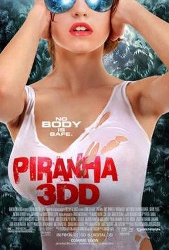 Piranha 3DD - Theatrical release poster