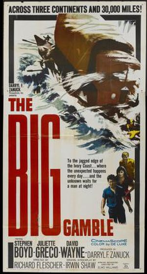 The Big Gamble (1961 film) - Image: Poster of the movie The Big Gamble