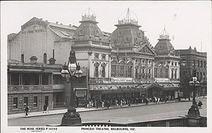 Princess Theatre, Melbourne - The Princess Theatre 1922