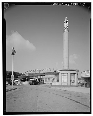 Toll bridge - Toll plaza at the Rainbow Bridge, Niagara County, New York U.S. Library of Congress