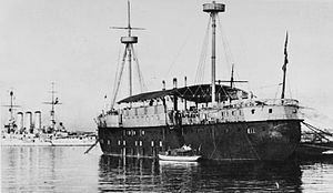 SMS Kronprinzessin Erzherzogin Stephanie - Kronprinzessin Erzherzogin Stephanie hulked in Pola in 1916