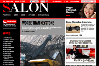 Salon (website) - Image: Salon screenshot May 18, 2012