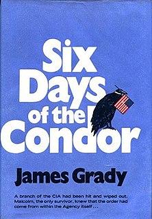 <i>Six Days of the Condor</i> Novel by James Grady