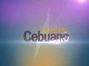 Cebuano News - Ident as Solar News Cebuano from January 28, 2013 until August 22, 2014. Solar branding was dropped by July 21, 2014.