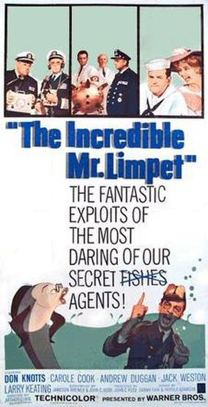 The Incredible Mr. Limpet - Theatrical poster