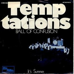 Ball of Confusion (That's What the World Is Today) - Image: Tempts 1970 ball of confusion uk