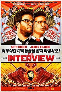 <i>The Interview</i> 2014 American action comedy film directed by Seth Rogen and Evan Goldberg