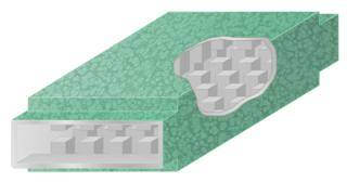 Waffle-iron filter