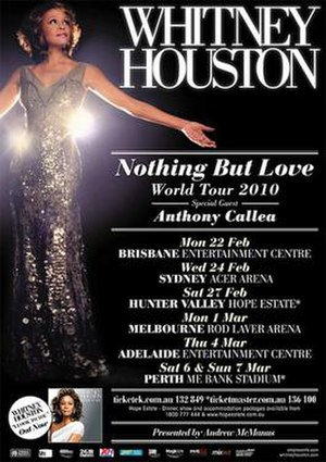 Nothing but Love World Tour - Promotional poster for Houston's 2010 tour