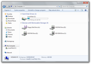 Features new to Windows 7 - Windows Explorer's revised user interface