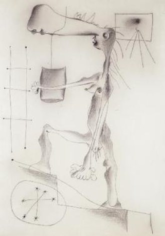 Naked Woman Climbing a Staircase - Image: Woman And Staircase By Miro
