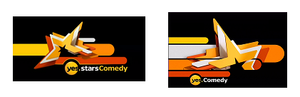 Yes Comedy - From the left – yes stars Comedy logo from December 14, 2008 and until August 19, 2010. yes Comedy logo from August 20, 2010 and until December 13, 2010.