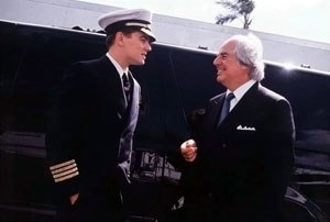 Catch Me If You Can - Leonardo DiCaprio and the real Frank Abagnale.