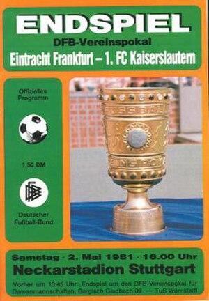 1981 DFB-Pokal Final - Image: 1981 DFB Pokal Final programme