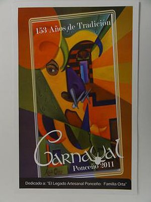 Carnaval de Ponce - Poster bill of the 2011 Carnaval de Ponce, celebrated March 2–8, 2011, in Ponce, Puerto Rico.