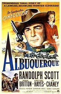 <i>Albuquerque</i> (film) 1948 film by Ray Enright