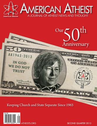 American Atheist Magazine - 50th anniversary cover.