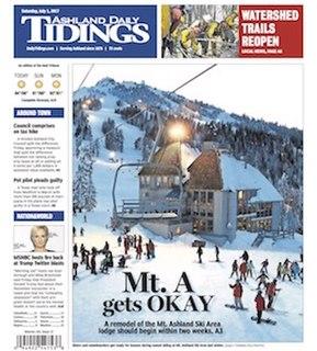 <i>Ashland Daily Tidings</i> newspaper in Ashland, Oregon