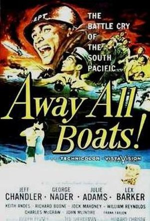 Away All Boats - Original film poster by Reynold Brown