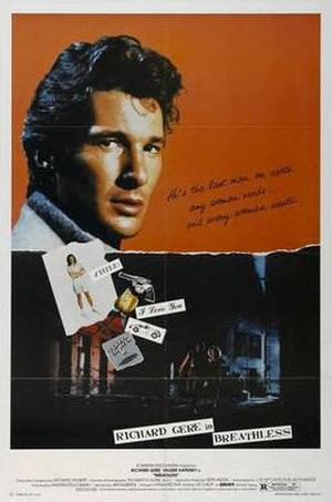 Breathless (1983 film) - Theatrical release poster