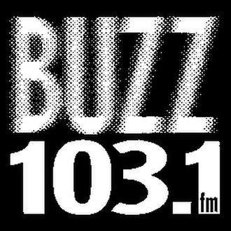 WIRK - Logo as 103.1 The Buzz.