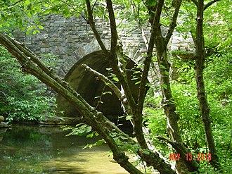 CC Road - Image: CC road bridge at Hillabee Creek