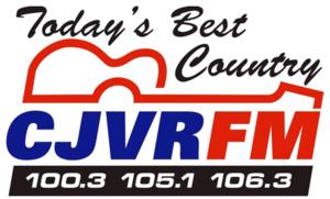 CJVR-FM - Image: CJVR FM100.3 105.1 106.3 logo