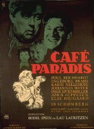 Café Paradis - 1950 movie poster by Aage Lundvald