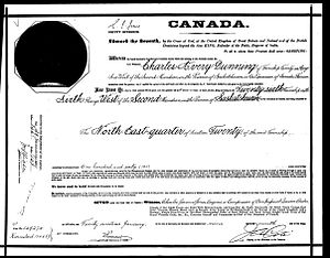 Charles Avery Dunning - The Original Crown Grant for the Dunning Homestead