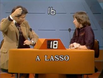 "Pyramid (game show) - Charles Siebert uses pantomime to describe ""lasso"" on The $25,000 Pyramid in 1982."