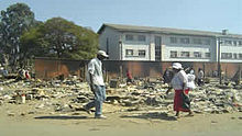 Scene in Chitungwiza after Operation Murambatsvina