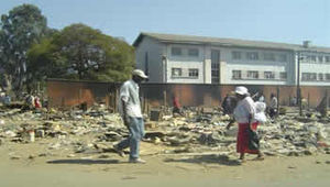 Operation Murambatsvina - Scene in Chitungwiza after Operation Murambatsvina